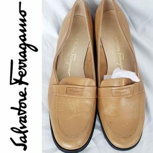 Salvatore Ferragamo Brown Flats